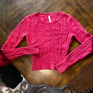 Lilu Red cable knit sweater - 12% wool